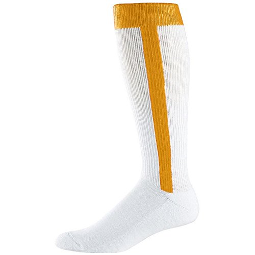 Augusta Intermediate Two-In-One Baseball Sock (Gold, Medium (9-11)) by Augusta