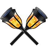Solar Lights Outdoor- Flight Landscape Lighting Solar Pathway Lights Solar LED Lights Garden Lights Flame Torch Lights Solar Powered Waterproof for Patio, Yard, Park, Driveway, Deck, Walkway (2 Pack) Review