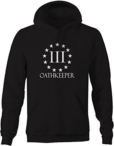 Oathkeeper 3% Revolution US Flag Constitution Pullover Sweatshirt - Large