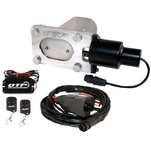 QTP QTEC33K Oval Low Profile Electric Exhaust Cutout Kit With Wireless Remotes by QUICK TIME PERFORMANCE