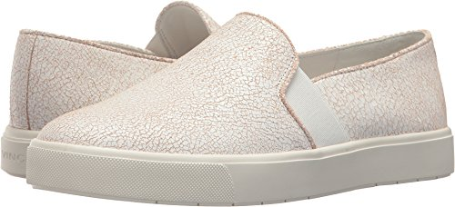 Vince Womens Blair-12 Fashion Sneaker In Pelle Screpolata Bianca