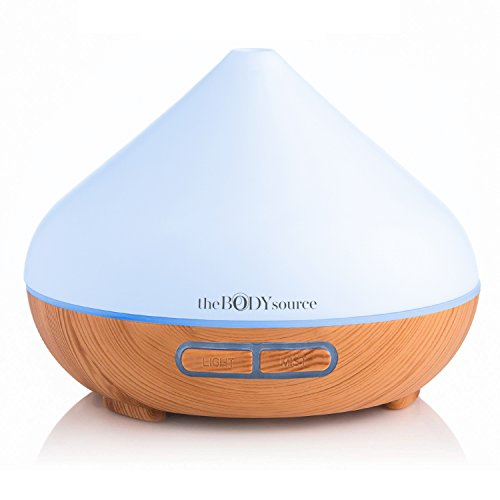 The Body Source 300ml Aroma Diffuser for Essential Oils with 7 Colour LED...