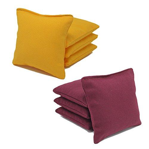 Cornhole Bags Set - (4 Yellow, 4 Burgundy) By Free Donkey Sports