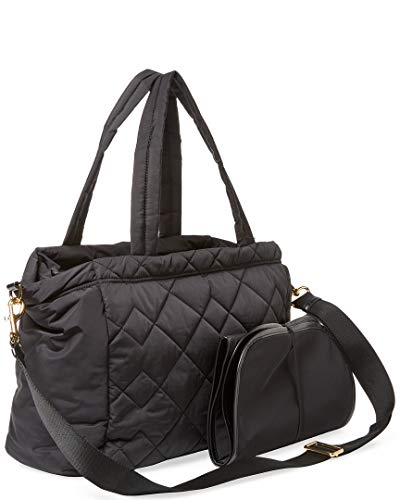 Marc by Marc Jacobs Crosby Nylon Quilted Diaper Bag, Black, Large