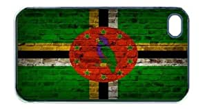 Dominica Flag Brick Wall iPhone 5 Black Case - Fits iPhone 5