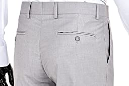 Men\'s Slim Fit Two Button Three Piece Suit (Light Gray, 50Regular)