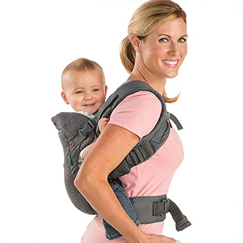 Infantino Flip Advanced 4-in-1 Carrier - Ergonomic, convertible, face-in and face-out front and back carry for newborns and older babies 8-32 lbs
