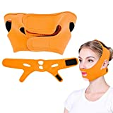 Facial Fat Tissue - Face Slimming Mask, Lift Tighten Face Skin Remove Bandage Double Chin Weight Loss Facial Care Beauty Face Belts Kit (Orange)