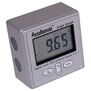 AccuRemote Digital Electronic Magnetic Angle Gage Level / Protractor / Bevel Gauge