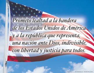 Spanish Pledge Poster]()
