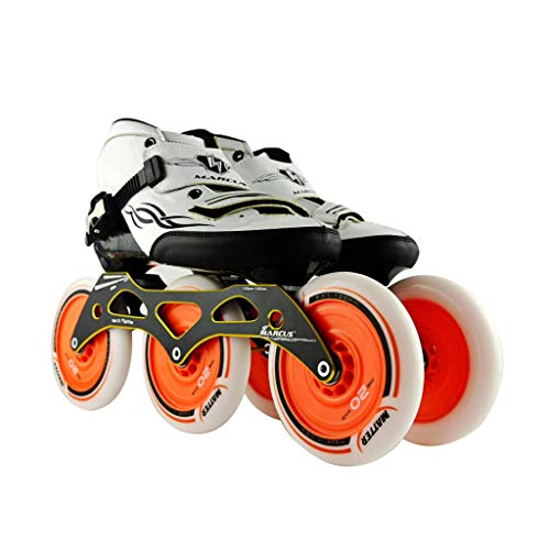 ロック解除協力的事実ailj スピードスケート靴3 * 125MM調整可能なインラインスケート、ストレートスケート靴(4色) (色 : Green, サイズ さいず : EU 39/US 7/UK 6/JP 24.5cm)