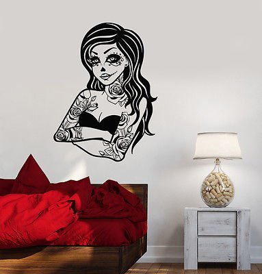 Dead Tree Photo (Vinyl Decal Gothic Tattoo Dead Girl Zombie Horror Wall Stickers Mural VS506)