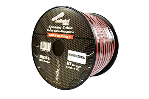 100 ft 10 Gauge awg Red Black Stranded 2 Conductor Speaker Wire Car Home Audio ()