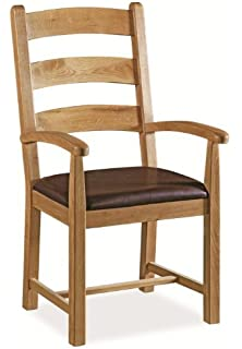 Kitchen Dining Chairs Wooden Beech Dining Arm Chair Walnut