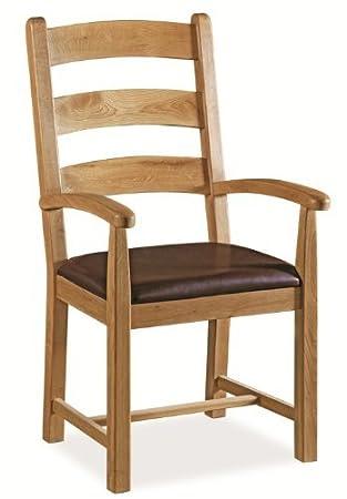 Roseland Furniture Carbis Oak Carver Chair