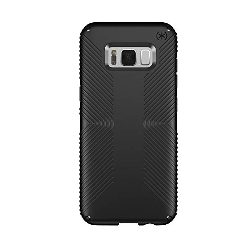 Rubberized Cell Phone Case - Speck Products Presidio Grip Cell Phone Case for Samsung Galaxy S8 - Black/Black