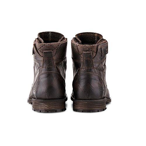 1aab6ddf138ba6 Cox Herren Winter Schnürschuh - Winterstiefel - Boots - Glattleder - hoher  Schnür Stiefel - robuste Profilsohle - Winter Boots braun Leder 43  Cox  ...