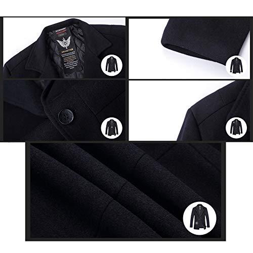 Tuta Di Maschile 7xl Del Giacca Grande Gentleman Formale Cappotto In 4xl Cappotto Addensare Sportiva Yra Per In Abito Formato Giacca Vento Lana Lunghezza Pile Vestito Metà Di Collare La Affari Blu A YqPpHwx