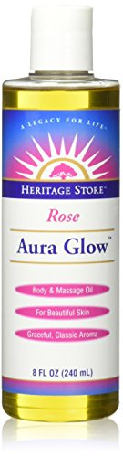 Aura Glow Massage Oil-Rose Heritage Store 8 oz Liquid