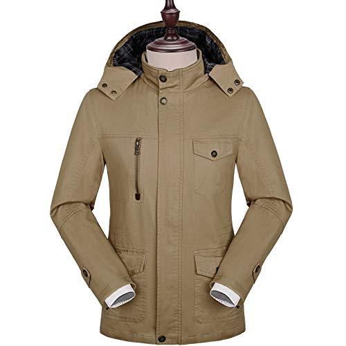 Wind Trench Slim Popular Coat Otoño 4xl Khaki Negocios Más Tamaño Hombres Chaqueta Jiakenvde Fit nCZqXSHq