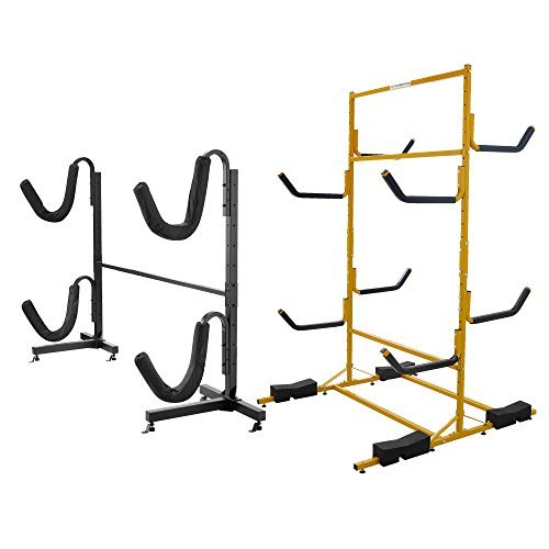 RAD Sportz Indoor Outdoor Freestanding Heavy Duty Two Kayak Storage Kayak or Paddle Board Storage Rack (Kayak System Board)