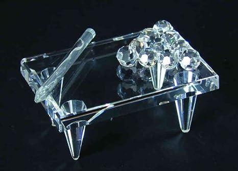 Cristal mesa de billar – Figura decorativa grande: Amazon.es ...