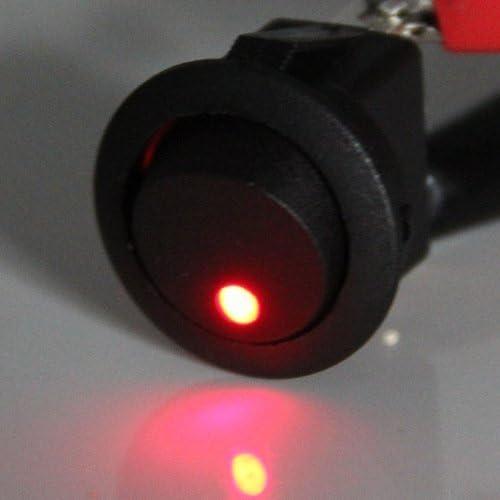 4x LED Anzeige Wippschalter Schalter Ein-//Ausschalter DC 12V 16MM rot I8O2
