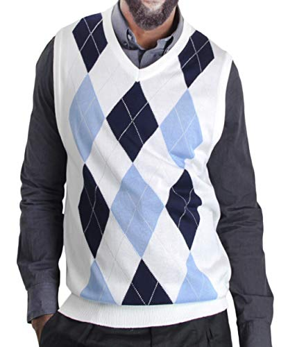 Blue Ocean Argyle Sweater Vest-3X-Large (Argyle Mens Sweater)