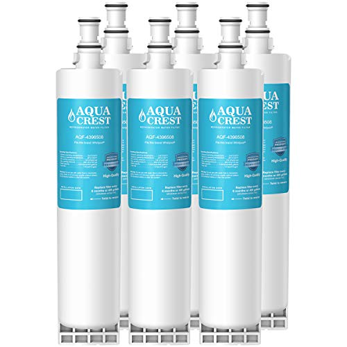 AQUACREST 4396508 Replacement Refrigerator Water Filter, Compatible with Whirlpool 4396508 4396510 EDR5RXD1, EveryDrop Filter 5, Kenmore 46-9010, PUR W10186668, NLC240V (Pack of 6)
