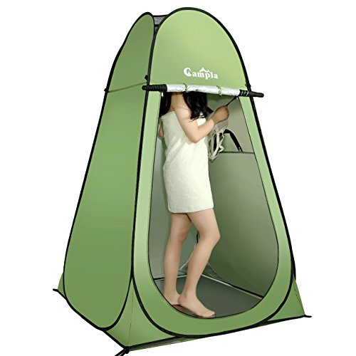 Campla Shower Tent Pop up Camping Changing Tent Portable Waterproof Outdoor Dressing Bathroom Toilet Tent Privacy Shelter Tent with Carrying Bag