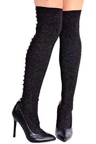 Lolli Couture Elegance Faux Leather Side Zipper Over The Knee Platform Boots Black-m33-7 QN8jECzC