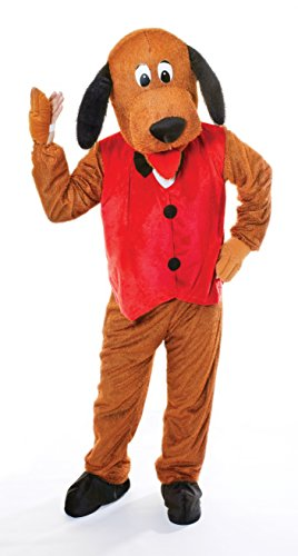 Bristol Novelty AC269 Dog with Waistcoat Big Head Costume, Red, 44-Inch Chest Size]()