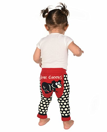 Lazy One LazyOne Baby Leggings l Cute Infant Pajama Pants (Bear Cheeks, 18 Months)