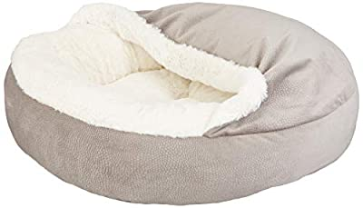 Best Friends by Sheri Cozy Cuddler, - Luxury Dog and Cat Bed with Blanket for Warmth and Security - Offers Head, Neck and Joint Support - Machine Washable, Water-Resistant Bottom - For Small Pets Up to 25lbs, Medium Pets Up to 35lbs