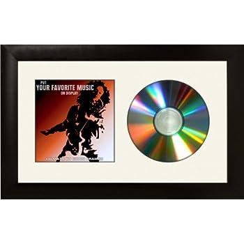 Amazon.com - Standard CD Frame Black Matting Real Glass - Decorative ...