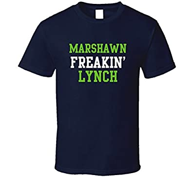 Marshawn Freakin' Lynch Seattle Football Player Cool Fan T Shirt