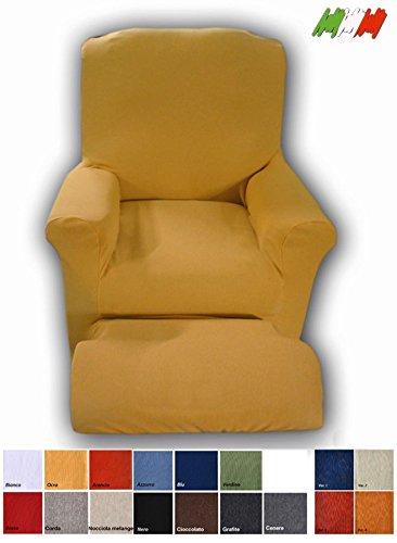 Poltrone Relax Pisa.Casa Tessile Relax Rivestimento Copri Poltrona Elettrica Universale Arancio