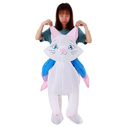 (Lebeaut Cat Inflatable Costume Props Blow Up Inflatable Fancy Dress for Halloween Cosplay Party Stage Performance for Kids Children)