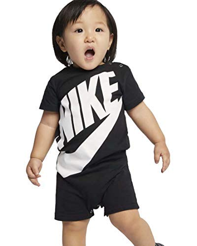 Nike Baby Boy Infant Shortall (Black(66D369-023)/White, 0-3 Months) ()