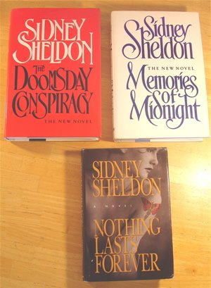Boxed set 3 Sidney Sheldon Hardcover Novels: Nothing Lasts Forever, Memories of Midnight, The Doomsday Conspiracy