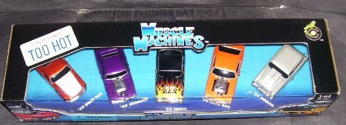 Muscle Machines California TOO HOT 5 Diecast Car Set 1:64 Scale (Assorted) (Muscle Machines)