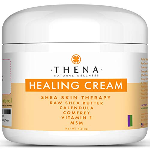 Healing Cream for Eczema Psoriasis, Organic Natural Moisturizer Lotion for Face Body Scalp Dry Itchy Irritated Cracked Skin, Anti Itch Relief Therapy Dermatitis Rashes Rosacea Shingles