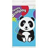 "Panda Birthday Plastic Tablecloth, 84"" x 54"""