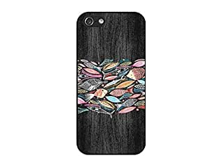 fish Wood Durable Protective Hard Shell case for iphone 5 & 5S case diy cover Design Protector by JAYANAN