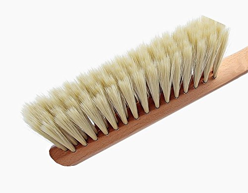 Huibot Hand Broom Wood Handle Soft Bristles Multi Fuction Natural Small Dusting Brush