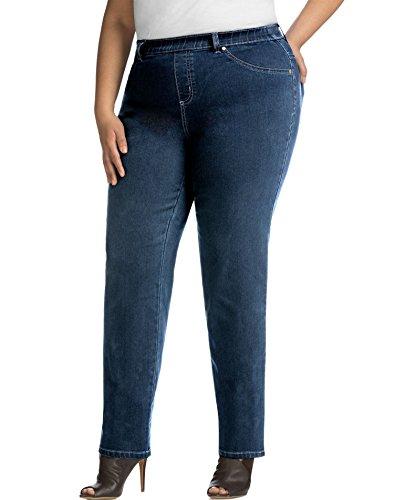 Just Size Pocket 5 My (Just My Size Women's Apparel Women's Plus Size Stretch Denim Jegging, Indigo, 2X(18W/20W))