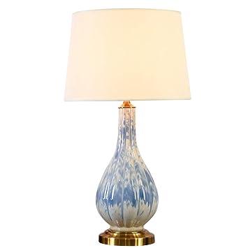 XULIWEI Lámpara de Mesa de cerámica Oriental Grande y ...