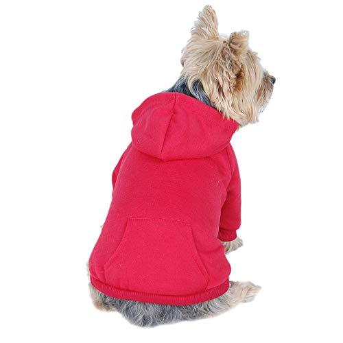 - Anima Burgundy Pullover Drawstring Hoodie Sweatshirt, Small