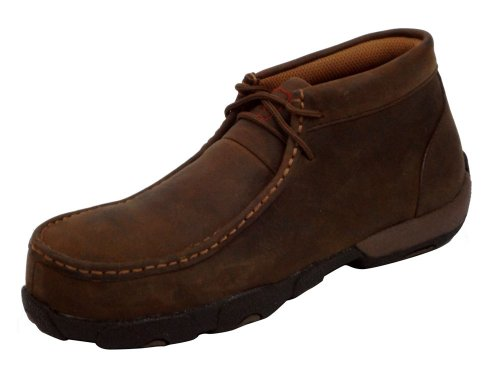 [Twisted X Women's Driving Moc Work Shoes Steel Toe Distressed 7.5 D(M) US] (Moc Toe Work Shoes)