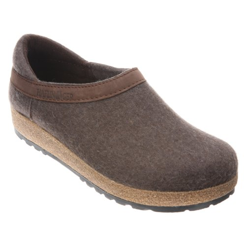 Haflinger Wool GZH Clog (Smokey Brown, EU 41 / W's 10)